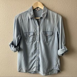 Kut From The Kloth Light Denim Western Shirt XS